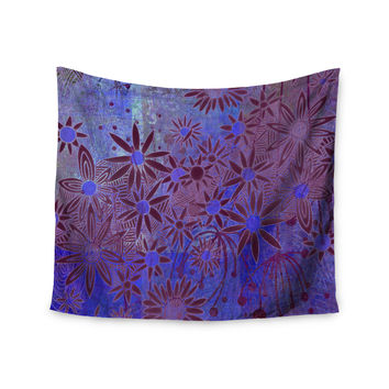 "Marianna Tankelevich ""Purple Night"" Purple Blue Wall Tapestry"