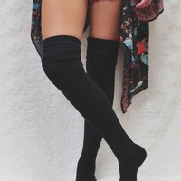The Basic Over-The-Knee Sock - Black