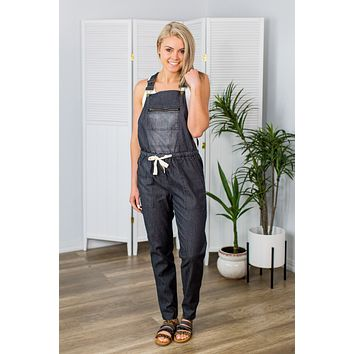 On The Flipside Overalls-Black