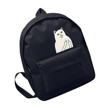 Anime Backpack School Women Backpack For Teenagers Girls Boy Laptop Harajuku Canvas Small Print Cartoon kawaii cute Cat Designer Casual Female School Bags AT_60_4