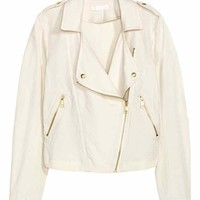 Biker jacket in a linen blend