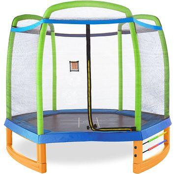 Pure Fun Jump and Play 7-Foot Trampoline Set, Ages 3 to 9