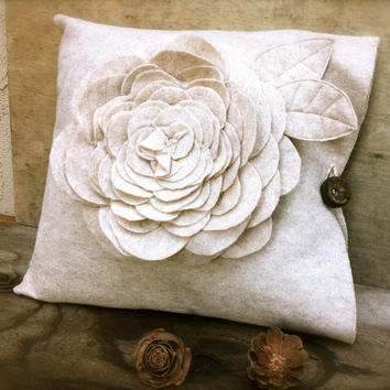 Decorative flower pillow case rustic unique home decor