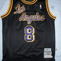 Super Rare Kobe Bryant 8 Los Angeles Hardwood Classic 1996-1997 NBA Jersey La Basketball Jersey All Stitched and Sewn Jersey Any Size S -XXL