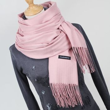 Women Cashmere / Pashmina long Wrap Around Scarf