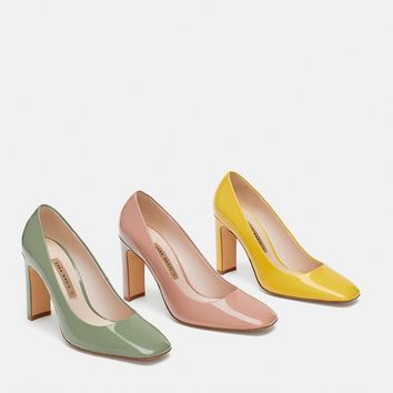 PATENT FINISH HIGH HEEL SHOES - View all-WOMAN-SHOES | ZARA United Kingdom