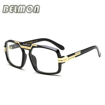 Eyeglasses Frame Women Men Computer Optical Myopia Eye Glasses Big Spectacle Frame For Women's Male Clear Lens Female RS076