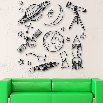 Wall Stickers Space Astronomy School Children Room Mural Vinyl Decal (ig1910)