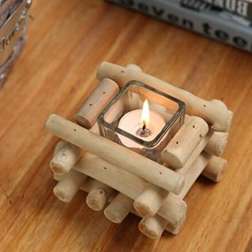 handmade wood candle holder set home gift 22 2