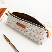Retro Pattern Pen Case