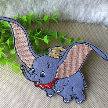 Disney Dumbo iron on applique E022 by happysupply on Etsy