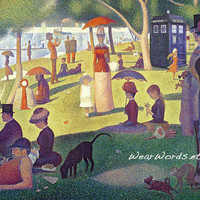 Doctor Who TARDIS Parody Greeting Card Set of Five Georges Seurat A Sunday Afternoon on the Island of La Grande Jatte