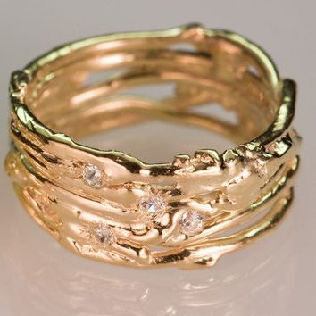 Recycled Bronze Wedding Band  Mens by luisfernando on Etsy