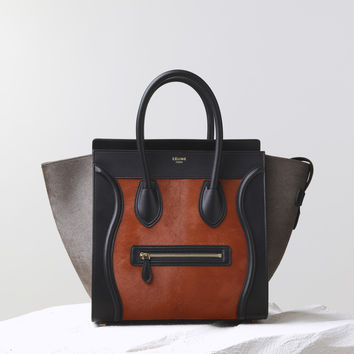 Mini Luggage Handbag Multicolour in Pony Calfskin