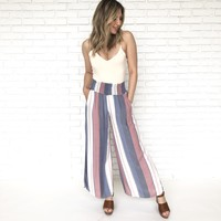 Amuse Society Smocked Waist Wide Leg Pants