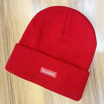 Boys & Men Supreme Hip Hop Women Men Beanies Winter Knit Hat Cap