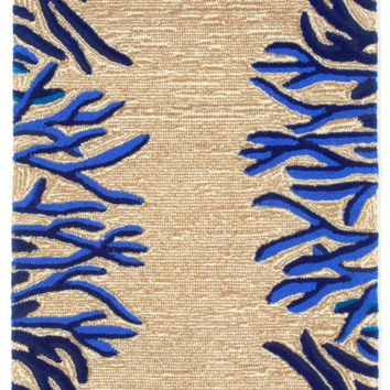 "Coral Bdr Cobalight 24"" x 8' Indoor/Outdoor Rug"