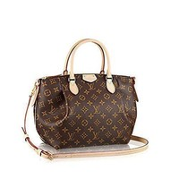CHEN1ER LV Women Shopping Leather Tote Handbag Shoulder Bag Authentic Louis Vuitton Monogram C