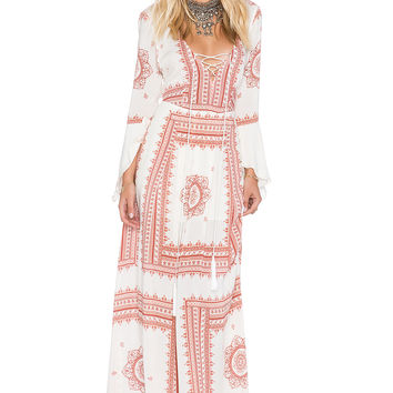 THE JETSET DIARIES SU2C x REVOLVE Santorini Dress in Rust & Cream