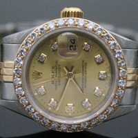 Rolex Ladies Datejust - Two Toned Watch - Diamond 1ct Bezel