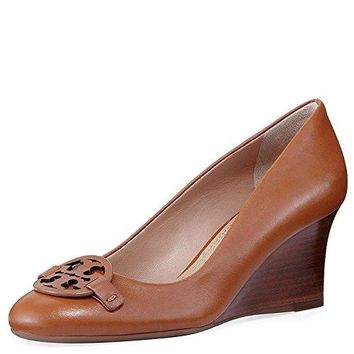 Tory Burch Miller Leather Wedge Slip On Shoes, New Cuoio (6.5)