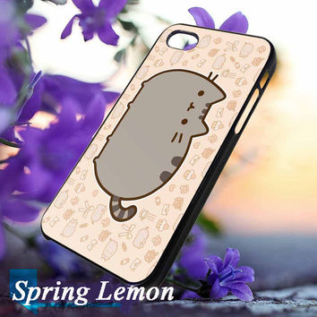 Pusheen Cat lovely  Accessories Cell Phone Hard Case Cover Skin for Iphone 4 4s 5 5s 5c 6 6s 6plus 6s plus neko