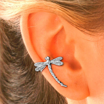 Dragonfly Ear Cuff Sterling Silver
