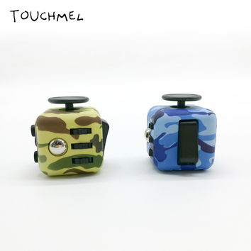 Silicone Buttons Camouflage Anti Stress fidget cube