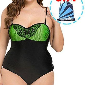 Garlagy Womens One Piece Swimsuits Plus Size Monokinis Swimwear Athletic Tankini Bathing Suit Bikini