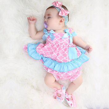 2018 newest Baby Swing Top Baby Girls Clothing Set