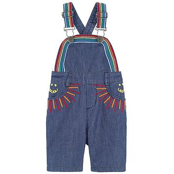 Stella McCartney - Baby Girl Rainbow Embroidered Sunbeam Overalls
