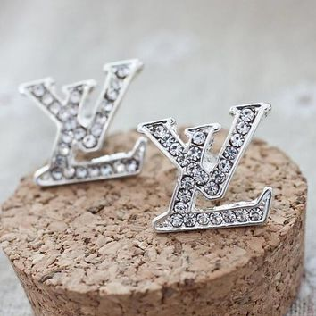 Louis Vuitton LV Fashion Women Letter Diamond Earrings I12845-1