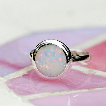 Opal Ring,October birthstone,Statement ring,Agate ring,Gemstone Ring,Geode Ring,Gifts idea,stone ring,Simple ring,Graduation gifts