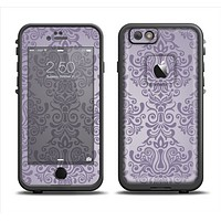 The Light Purple Damask Floral Pattern Apple iPhone 6/6s LifeProof Fre Case Skin Set