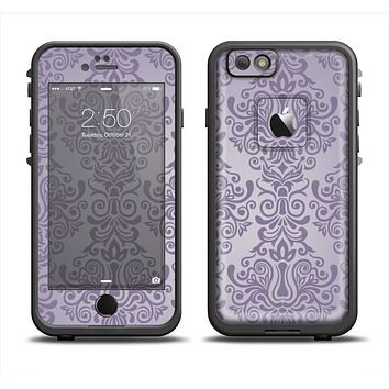 The Light Purple Damask Floral Pattern Apple iPhone 6 LifeProof Fre Case Skin Set
