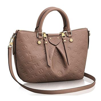 Tagre™ Authentic Louis Vuitton Mazarine PM Bag Handbag Article: M50709 Taupe Made in France