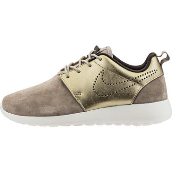 Nike Roshe One Premium Suede (Womens) - String/Dark Storm/Sail/Metallic Gold Grain