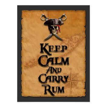 Keep Calm And Carry Rum Posters from Zazzle.com