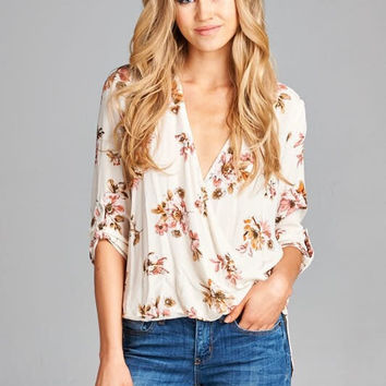 Sunny Side of the Street Floral Top - Ivory
