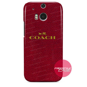 Coach Red Skin  HTC One Case Cover Series