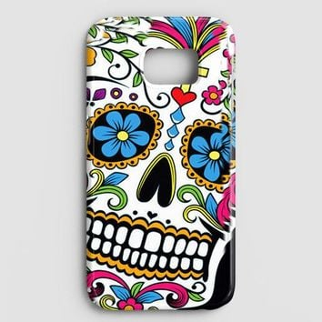 Sugar Skull Colorful Crack Out Samsung Galaxy S8 Plus Case