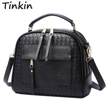 Tinkin New Arrival Knitting Women Handbag