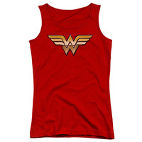 Wonder Woman Golden Logo Juniors Tank Top