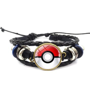 Pokemon pokeball Weave Charm Bracelet