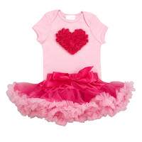 "Bubble Gum Pink Tutu Love Set ""Trendy Baby Clothes"""