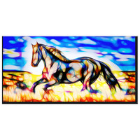 Colorful Horse Canvas Wall Art Print