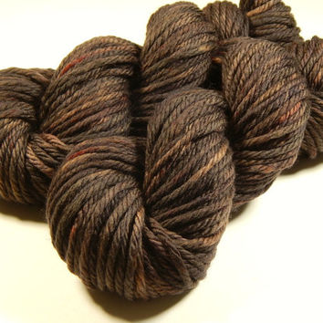 Hand Dyed Yarn - Bulky Weight Superwash Merino Wool Yarn - Bark Tonal - Knitting Yarn, Wool Yarn, Bulky Yarn, Brown Yarn