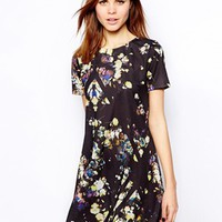 Warehouse Cutabout Floral Swing Dress