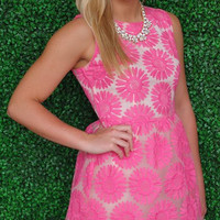 Daisies for Days Dress- Pink