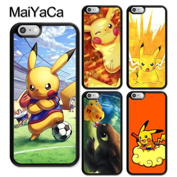 MaiYaCa s Anime Funny Style Soft Rubber Phone Cases For iPhone 6 6S 7 8 Plus X 5 5S SE Back Cover Skin Shell CoqueKawaii Pokemon go  AT_89_9